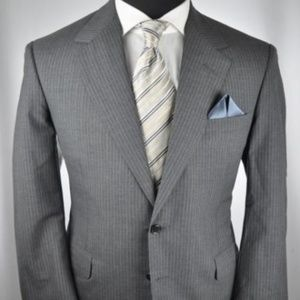 $3995 Oxxford Clothes Gray 2Btn Suit